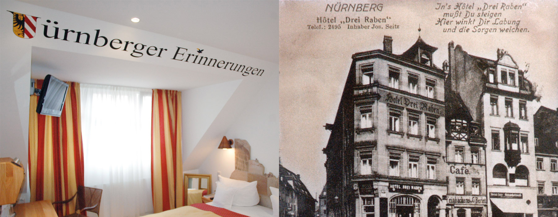 hotel drei raben n rnberg rooms nuremberg memories. Black Bedroom Furniture Sets. Home Design Ideas